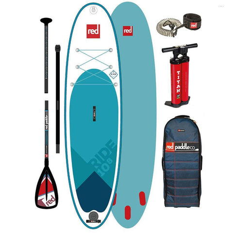 Red Paddle Ride 10'8 Inflatable Paddle Board with Alloy Paddle Package - 2020