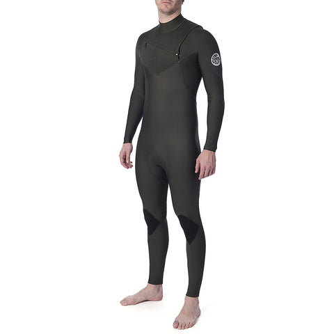 Rip Curl Dawn Patrol Performance 3/2mm Chest Zip Wetsuit - Khaki