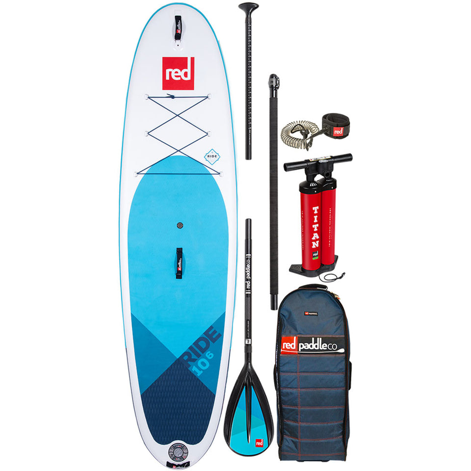Red Paddle Ride 10'6 Inflatable Paddle Board with Carbon Nylon Paddle Package - 2020