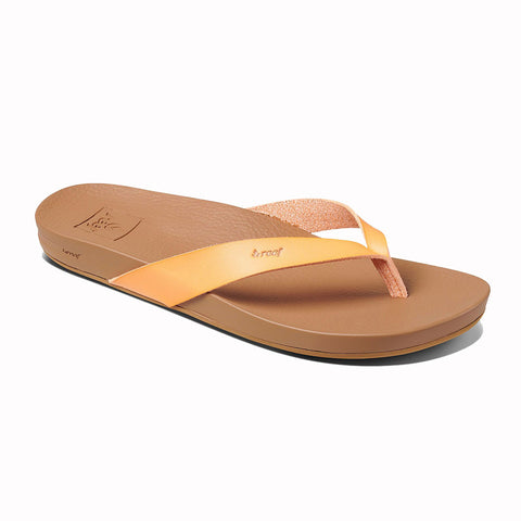 Reef Womens Cushion Bounce Court Flip Flops - Cantaloupe
