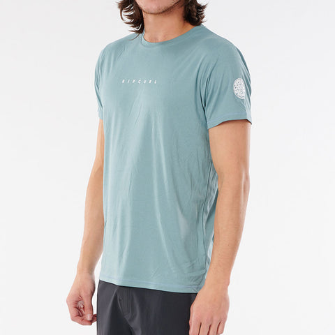 Rip Curl Dawn Patrol Short Sleeve UV Top - Mid Blue