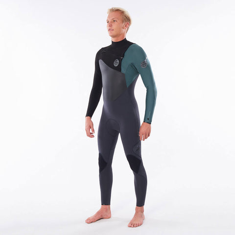Rip Curl Flashbomb 4/3mm Chest Zip Full Wetsuit  - Green