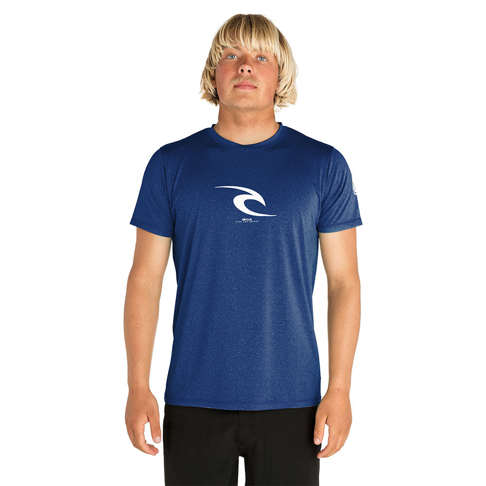Rip Curl Icons Short Sleeve UV Top - Navy