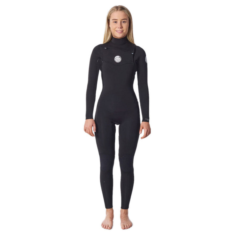 Rip Curl Womens Dawn Patrol 5/3mm Chest Zip Wetsuit - Black
