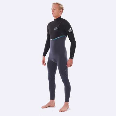 Rip Curl E-Bomb 3/2mm Zip Free Summer Wetsuit  - Charcoal