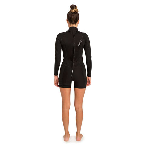 Rip Curl Womens Dawn Patrol 2mm B/Z Long Sleeve Shortie  - Black