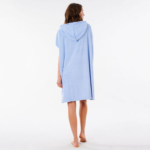Rip Curl Womens Surf Essentials Hooded Changing Towel  - Blue