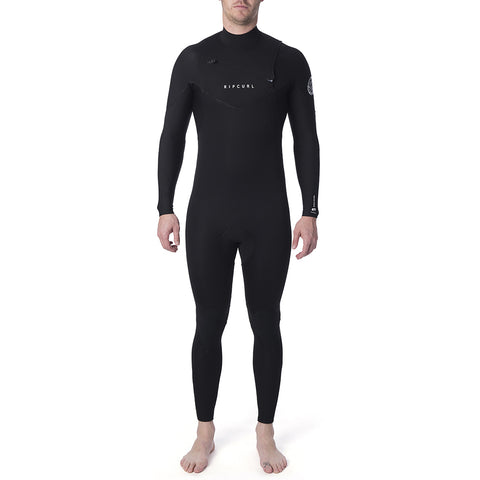 Rip Curl Dawn Patrol Performance 4/3mm Chest Zip Wetsuit - Black