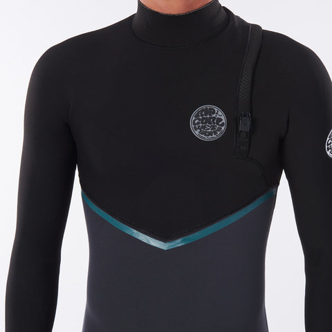 Rip Curl E Bomb 5/3mm Zip Free Winter Wetsuit - Charcoal Grey