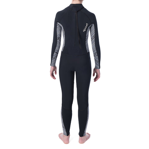 Rip Curl Junior Dawn Patrol 4/3mm B/Z Full Wetsuit  - Black/White