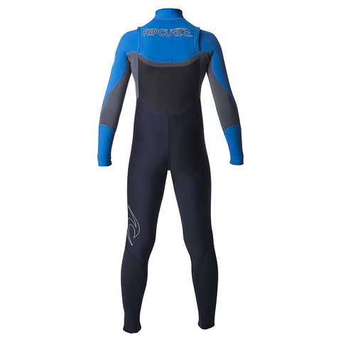 Rip Curl Junior Dawn Patrol 4/3mm Chest Zip Wetsuit  - Slate