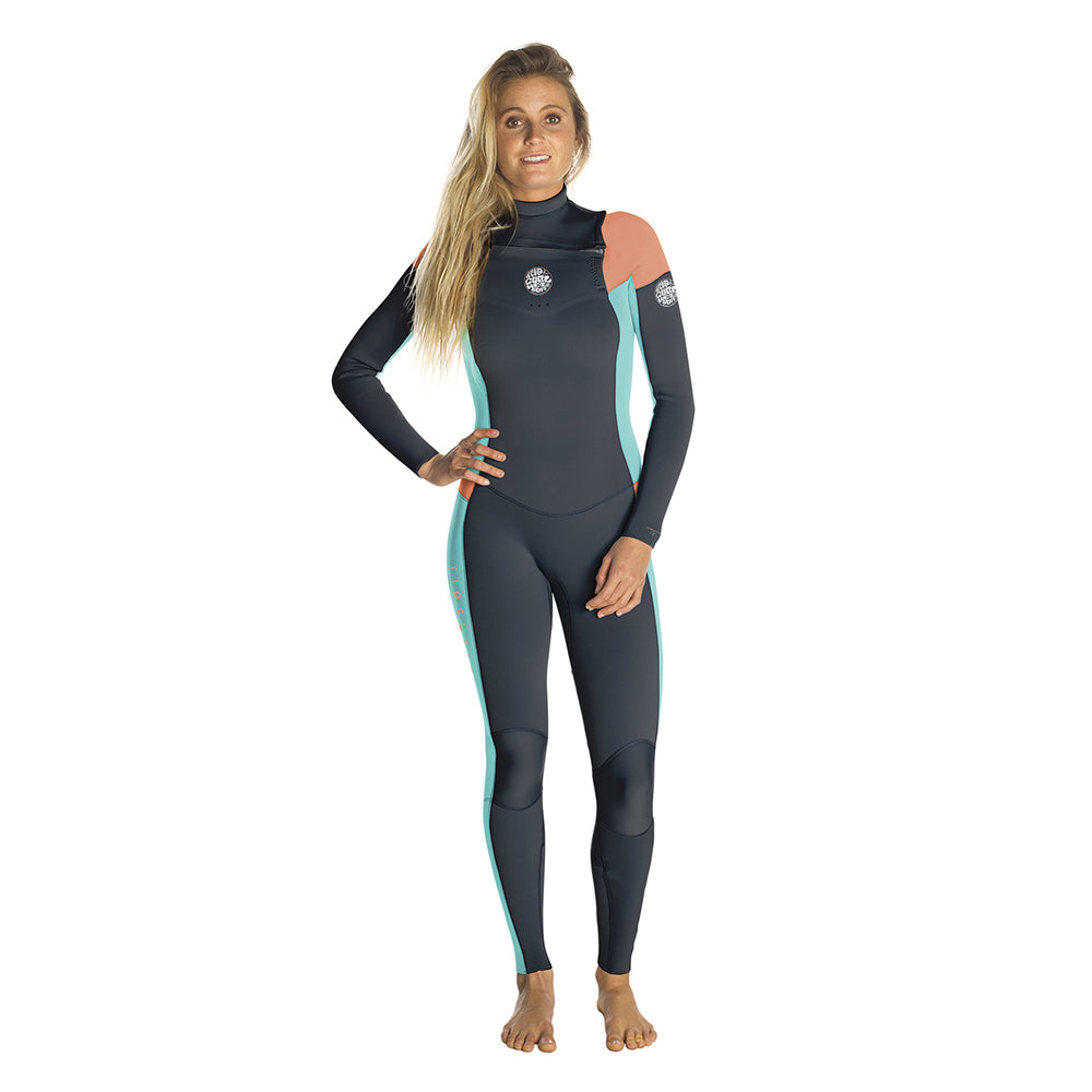 Rip Curl Womens Dawn Patrol 4/3mm Chest Zip Full Wetsuit