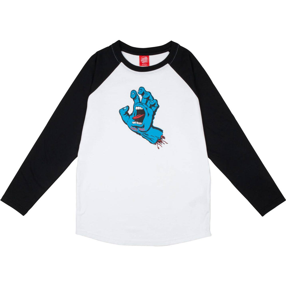 Santa Cruz Youth Screaming Hand Long Sleeved Baseball Top