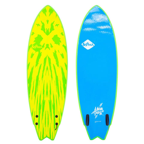 Softtech Mason Twin II 5'6 Surfboard - Lime / Yellow