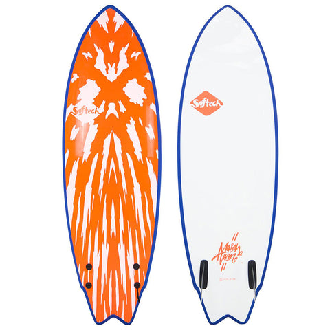 Softtech Mason Twin II 5'6 Surfboard - Red White