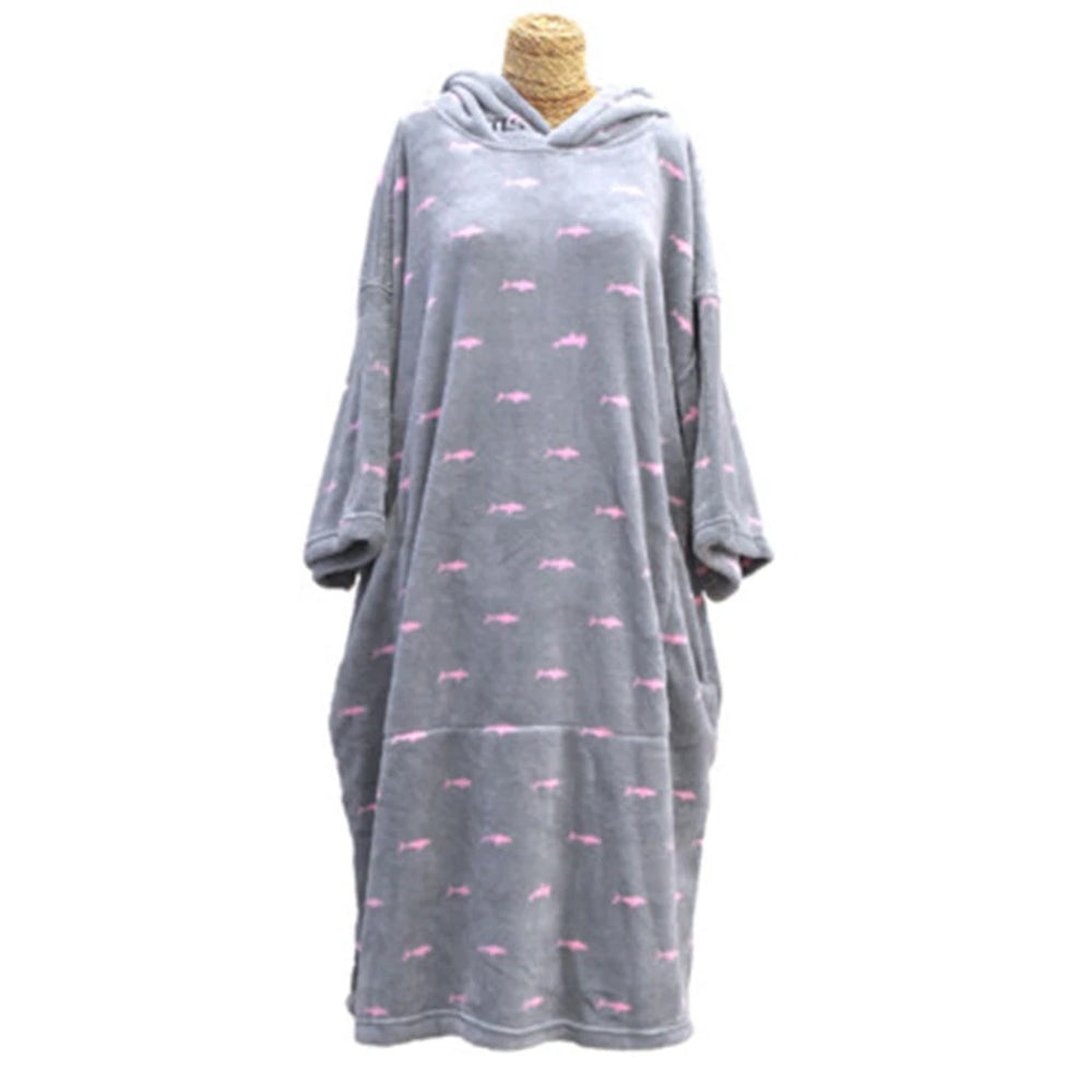 Tools Kids Shark Dot Micro Fiber Changing Robe