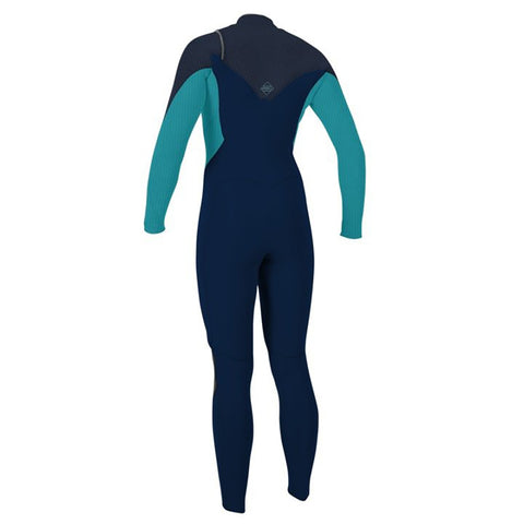 O'Neill Womens Hyperfreak 5/4 C/Z Winter Wetsuit -Abyss/Turquoise