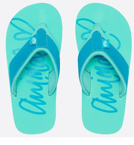 Animal Girls Swish Logo Flip Flops