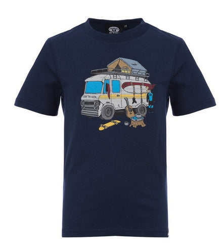 Animal Sable Boys T-shirt navy