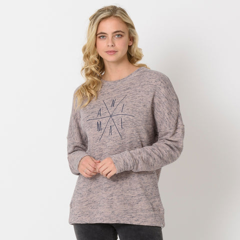 Animal Womens His N Hers Crew Neck Sweatshirt