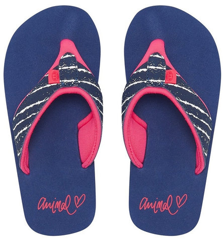 Animal Girls Swish Upper AOP Flip Flops - Patriot Blue