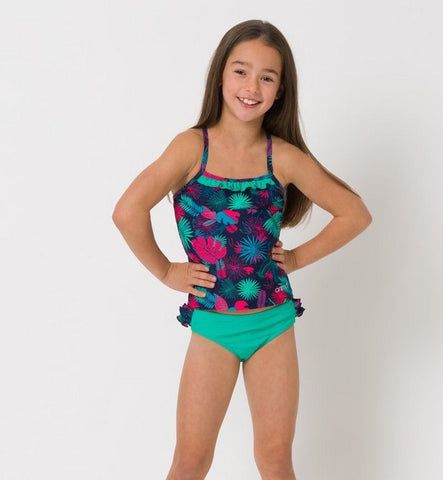 Animal Girls Ocean Palm Tankini
