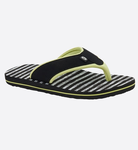 Animal Womens Swish AOP Flip Flops - Sunshine Green