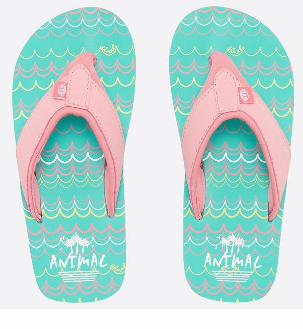 Animal Girls Swish AOP Flip Flops