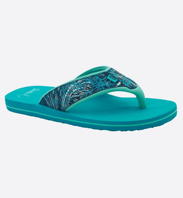 Animal Womens Swish Upper AOP Flip Flops - Capri Blue