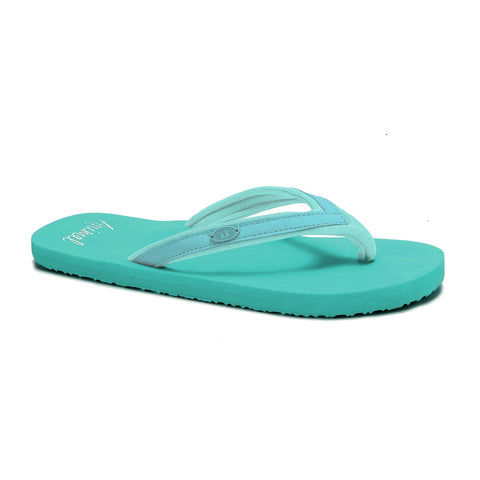 Animal Womens Swish Slim Block Flip Flops - Canton Green