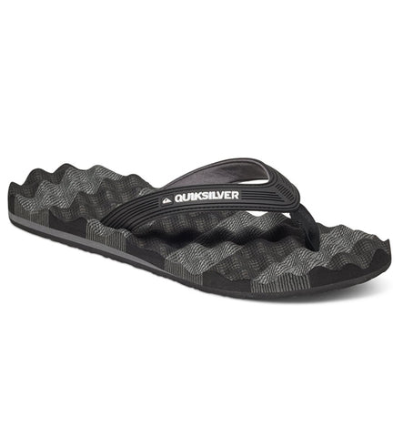 Quiksilver Massage Flip Flops - Black/Grey
