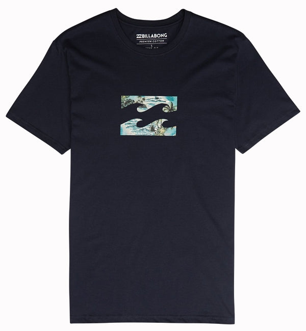 Billabong Team Wave Team T Shirt Navy
