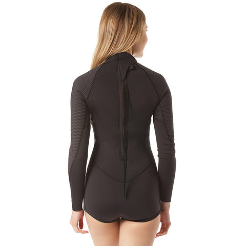 Billabong Womens E-Spring Fever 2mm Long Sleeved Shortie - Onyx