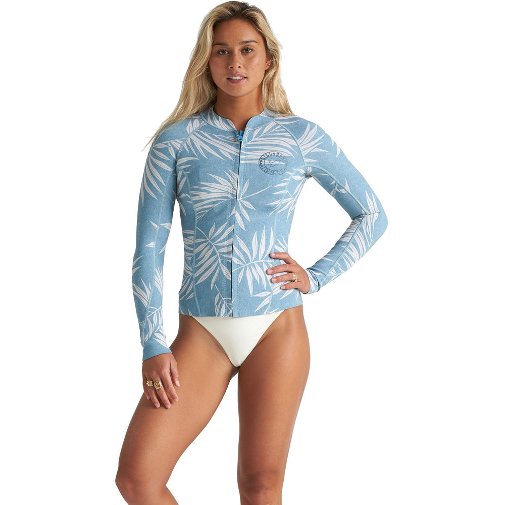 Billabong Womens Peeky 2mm Wetsuit Jacket - Blue Palms