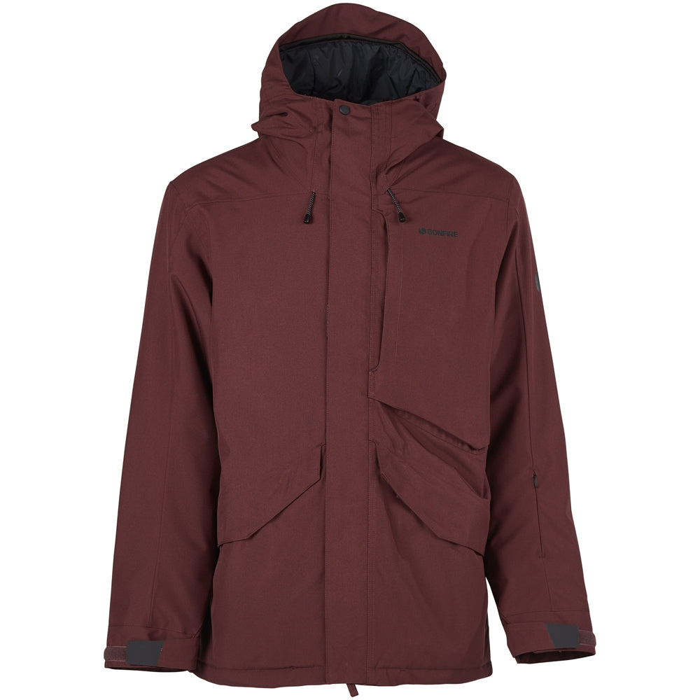 Bonfire Vector Insulated Snowboard/Ski Jacket - Maroon