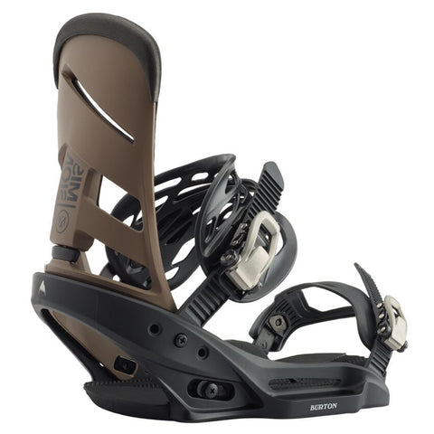 Burton Mission EST Snowboard Bindings - Black/Mocha