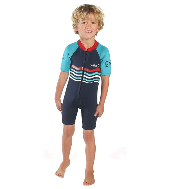 C-Skins Baby Waves Shortie Wetsuit - Ink Blue