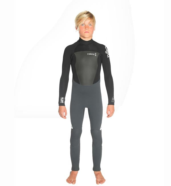 C Skins Junior Legend 5/4/3 GBS Back Zip Wetsuit - Black/Graphite