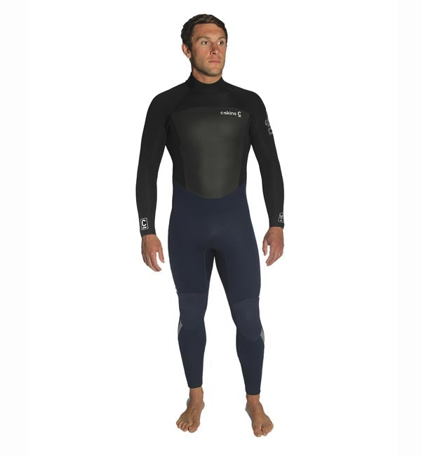 C Skins Legend 5/4/3 GBS Back Zip Wetsuit - Ink Blue/Black/Grey