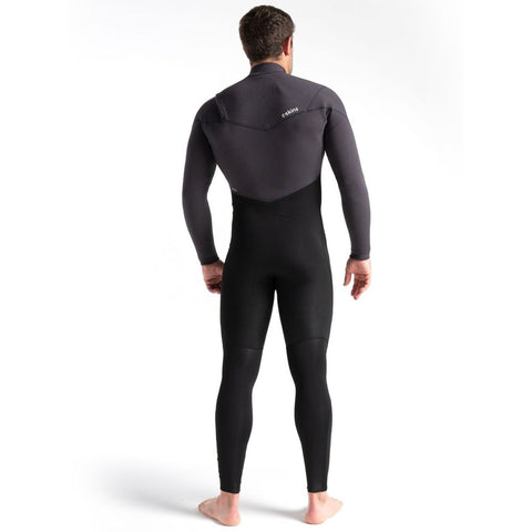 C-Skins ReWired 4/3mm Chest Zip Full Wetsuit - Black/Meteor/Lime