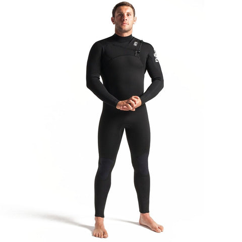 C-Skins Session 4/3mm Chest Zip Full Wetsuit - Black/Carbon/White