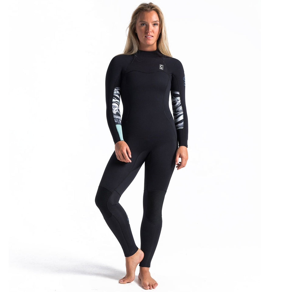 C-Skins Womens Solace 5/4/3mm GBS BZ Winter Wetsuit-Raven/Winter