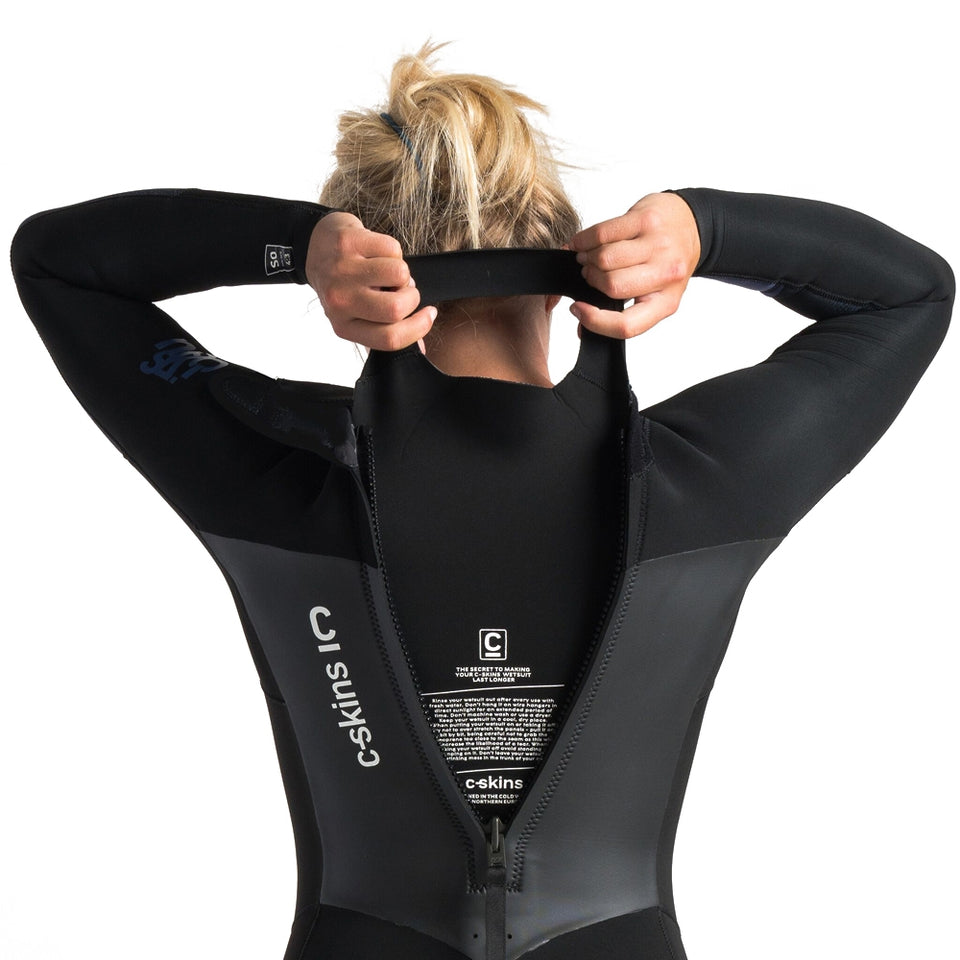C-Skins Womens Solace 5/4/3mm GBS Back Zip Full Winter Wetsuit