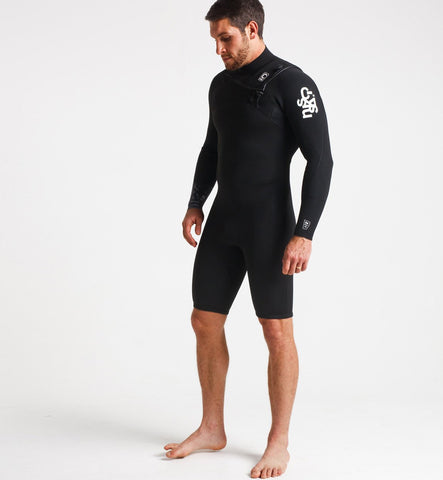 C Skins Session 3/2 GBS Chest Zip Long Sleeved Shortie Wetsuit