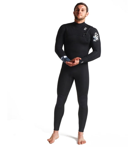 C Skins Session 4/3 GBS Chest Zip Full Wetsuit - Black/C-Ollage/