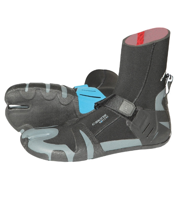 C Skins Wired 6mm Split Toe Wetsuit Boots - Black Blue