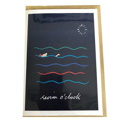 Inkpen Cards - Swim O'Clock