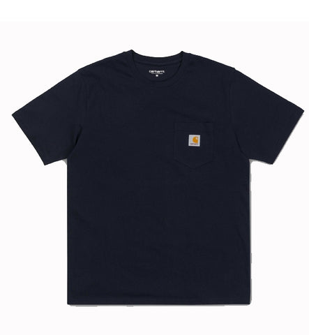 Carhartt Pocket Short Sleeved T Shirt - Dark Nav