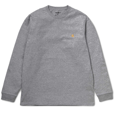 Carhartt Chase Long Sleeved T Shirt - Black/Gold
