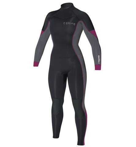 C Skins Womens Solace 5/4/3mm Winter Wetsuit Black Graphite Rose
